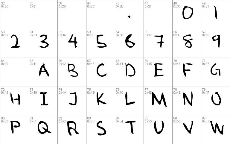 Download Ugly Hand Writing Font Fontsme Com