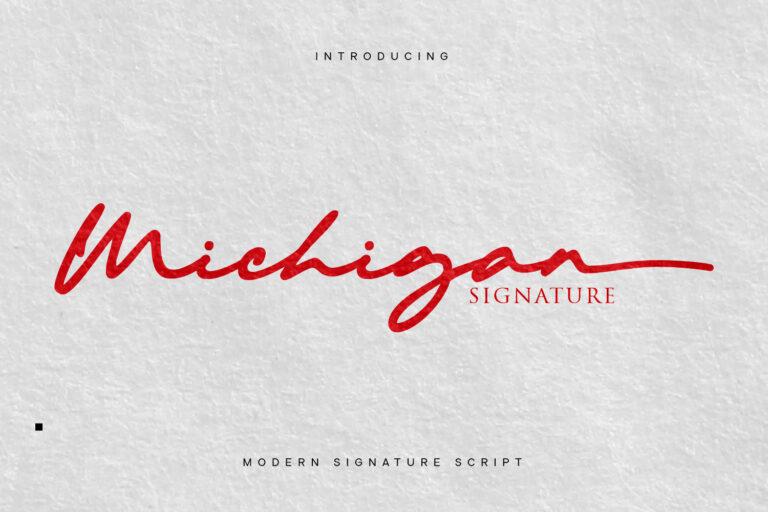 Preview image of Michigan Signature