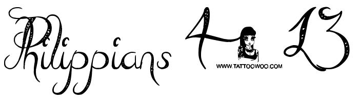Philippians 4 13 Tattoo Fonts