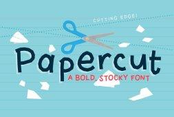 papercut-font