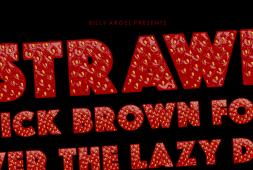 strawberry-font