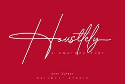 housttely-signature-font