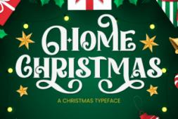 home-christmas-font
