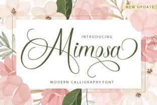 mimosa-script-font
