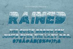 rained-font