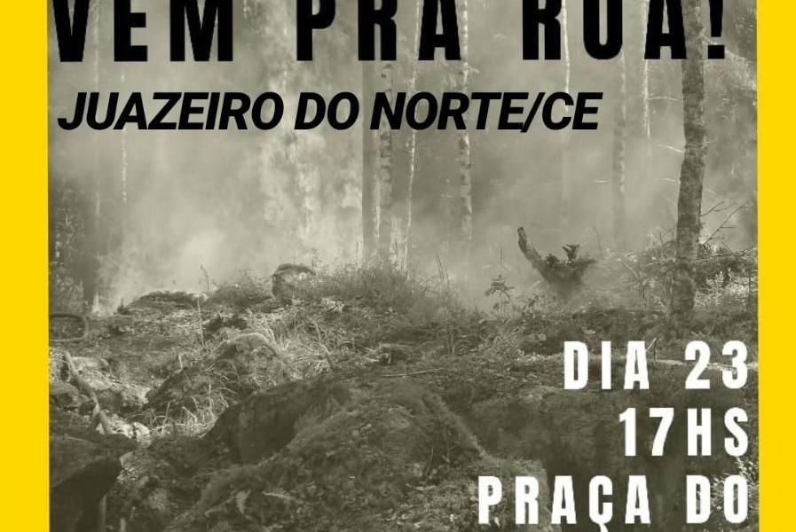 Protesto em defesa da Amazônia é convocado no Cariri
