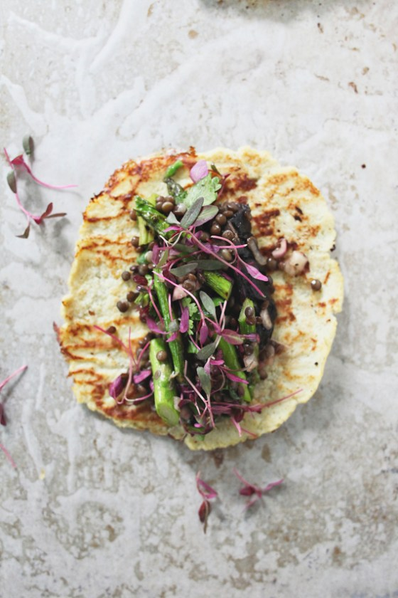 Veggie Tacos with Cauliflower Tortillas