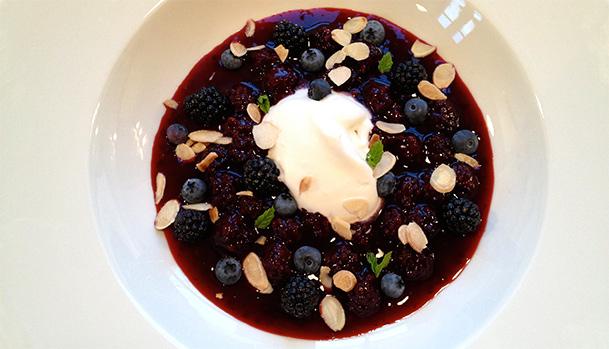 blue berry pudding
