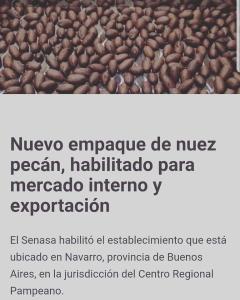 Empaque habilitado para exportación