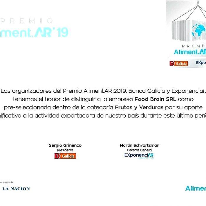 Premios Aliment.AR'19