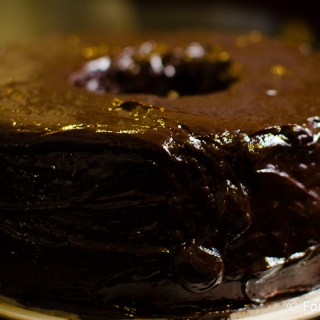 Brown Butter Cake with Chocolate Ganache