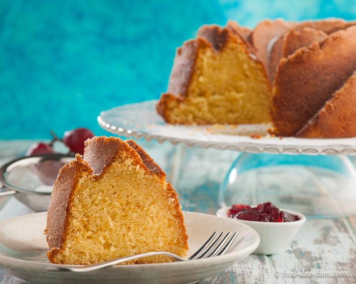 Classic Sour Cream Pound Cake Recipe Food Dee Dum