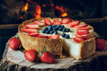 Blåbær cheesecake opskrift
