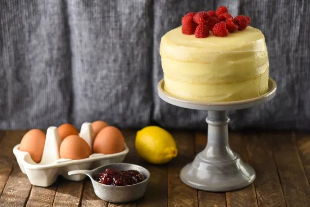 Lemon Raspberry Cake For Two Recipe Food Fanatic
