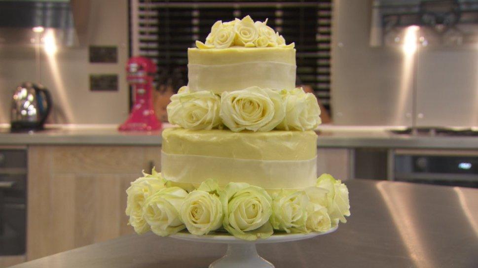 White Chocolate Wedding Cake Recipe Bbc Food