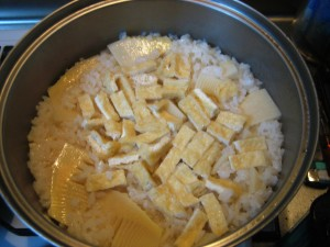 Bamboo shoots rice