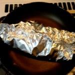 baked salmon in aluminul foil