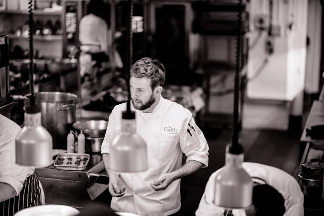 Liam Finnegan, head chef at The Castle in Taunton