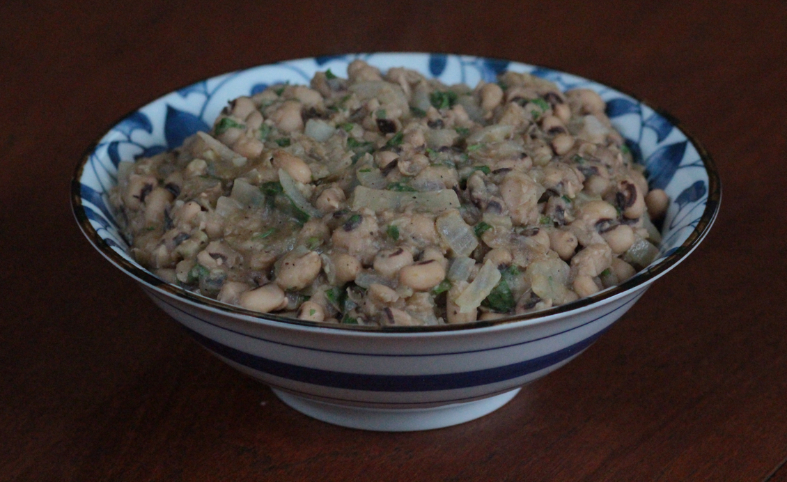 black eyed pea stew in a bowl