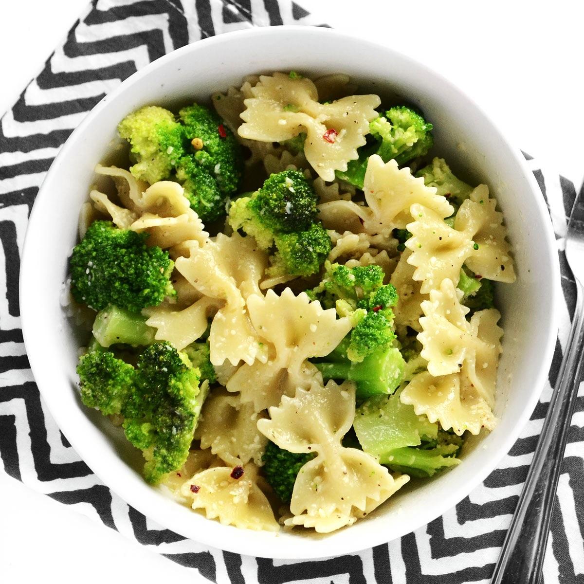 Паста с брокколи и сливками – Ужин за 20 минут