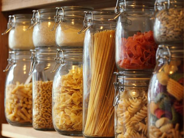 Healthy Eating on a Budget Different Types of Pasta in Jars