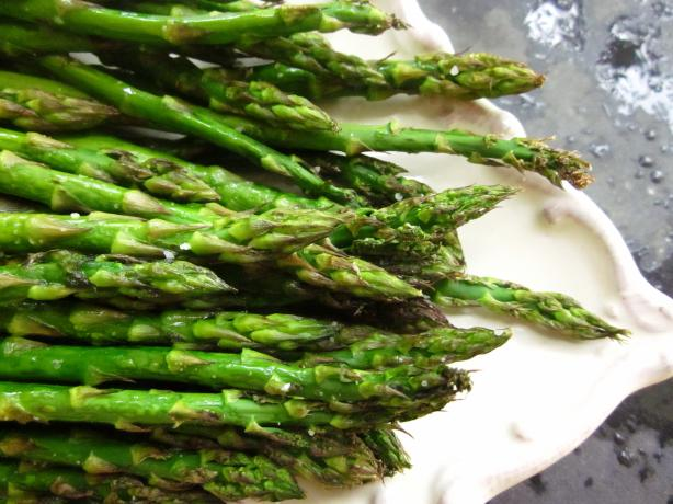 Oven Roasted Asparagus With Garlic