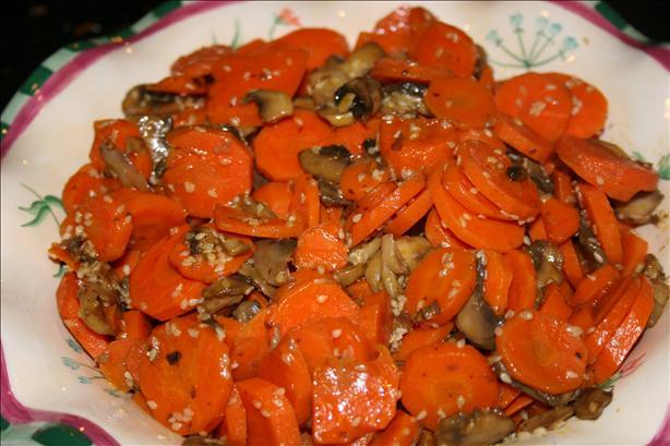 Sesame, Carrots and Mushrooms