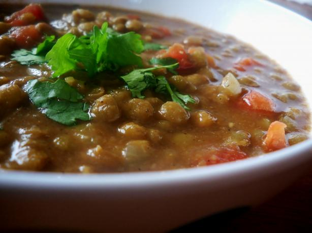 Crock Pot Curried Lentil Soup