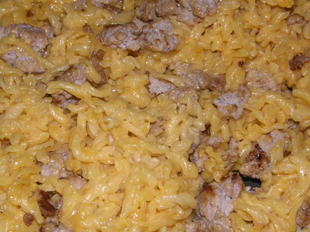 About This Recipe -   Zach's Easy-Cheesy Macaroni & Hamburger Meat