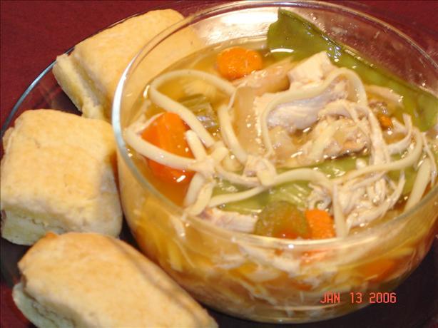 Chicken Linguine Soup – Crock Pot