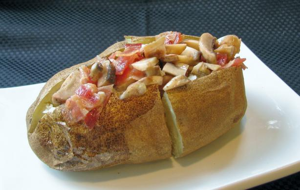 Bacon-Mushroom Baked Potato Topping