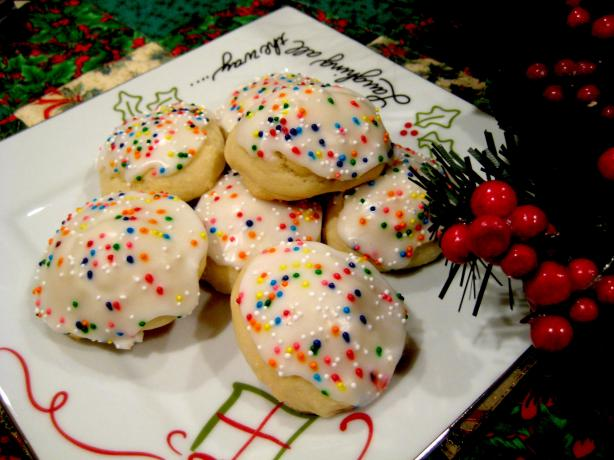 Italian Anise Cookies With Icing and Sprinkles. Photo by Cookin'Diva