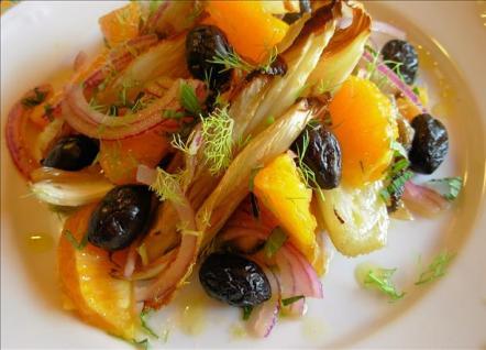 Spanish Charred  Fennel, Orange and Olive Salad