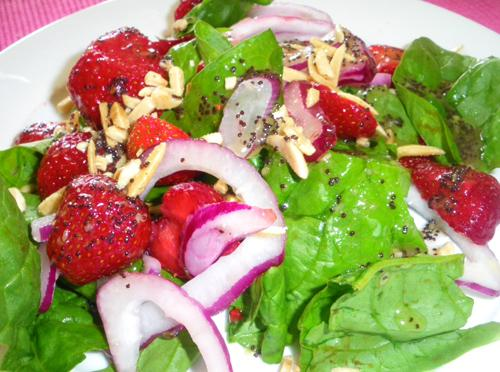 About This Recipe -   spinach strawberry salad
