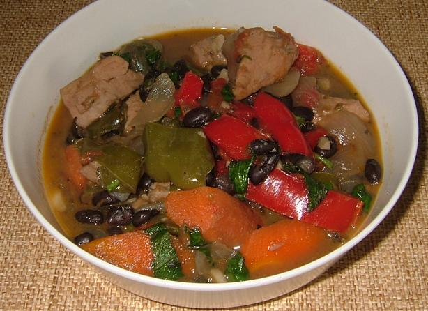 About This Recipe -   Turkey and Black Bean Stew