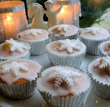 Magical Christmas Fairy Cakes