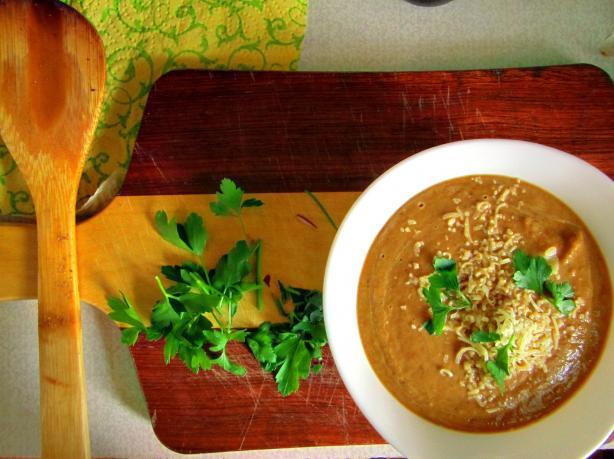Roasted Eggplant (Aubergine) Soup
