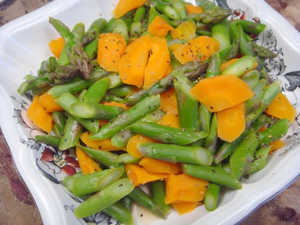 Lemon Asparagus and Carrots