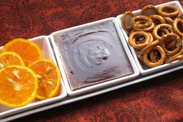 Easy Chocolate Dipping Sauce
