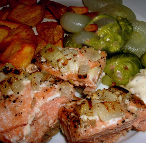 About This Recipe -   Grilled Salmon