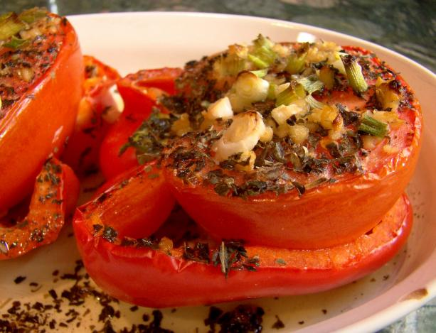 Tomato Stuffed Red Bell Peppers