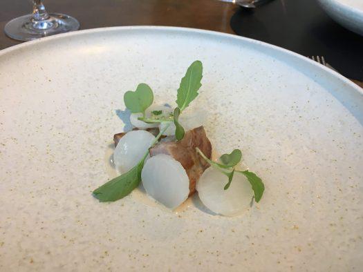 Spring lamb, turnip and salted plum cream