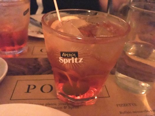 A glass of Aperol Spritz