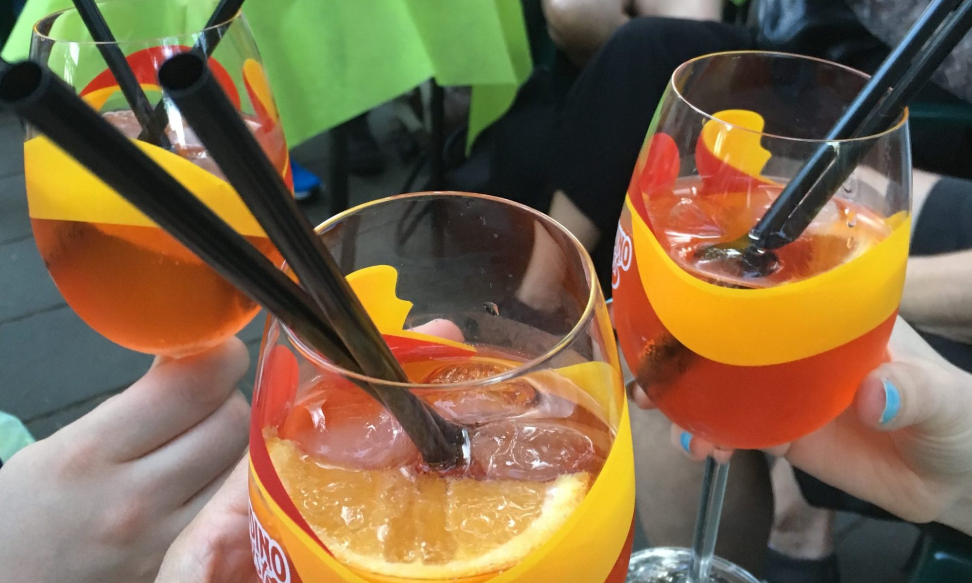 Three Aperol spritz