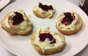 Scones with clotted cream and jam
