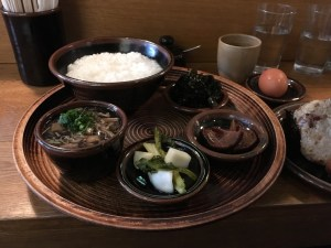 Japanese porridge with mushrooms