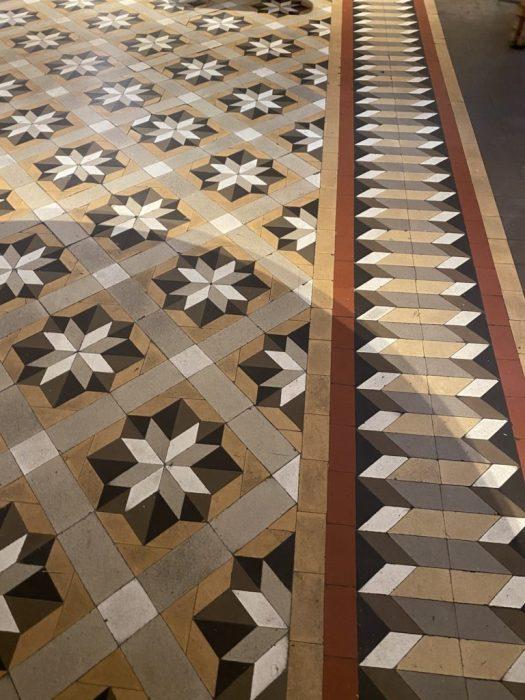 Traditional Valencian style flooring at La Salita