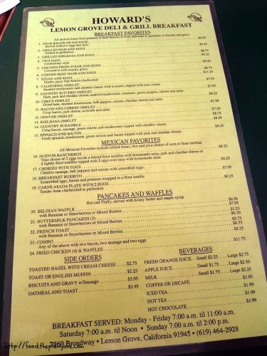 lemon grove deli menu