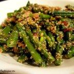 [recipe] green bean salad + homemade bbq