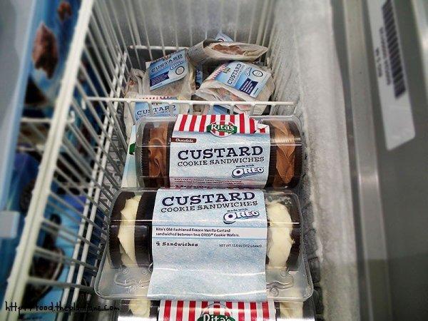 Custard Cookie Sandwiches at Rita's Italian Ice